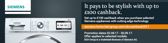 SIEMENS Cashback Promo - 02.08.2017 - 26.09.2017