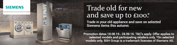 Siemens Trade In up to ?100 18.08.2016 to 28.09.2016