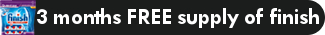 Smeg - 3 months FREE supply of Finish dishwasher tablets