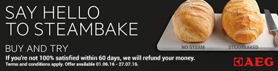 AEG SteamBake Oven try and buy Cashback Promotion 01.06-27.07.2016