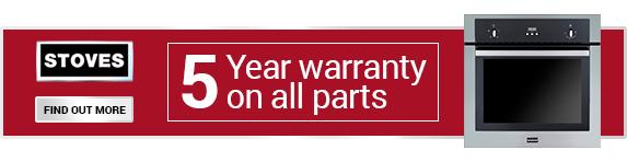 Stoves - 5 Year Warranty