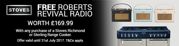 Stoves Roberts Radio Free with Sterling or Richmond to 31.07.2017