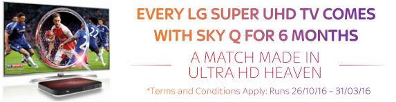 LG - Suoer UHD Sky Q Promotion