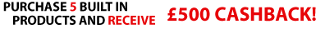 Miele �500 cashback promotion buy any 5 built in Appliance June - March 31 2016