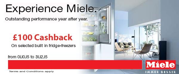 Miele - ?100 Cashback on Built In Fridge Freezers