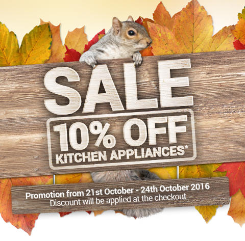 October Sale - 10% Off Kitchen Appliances between 21st-24th October