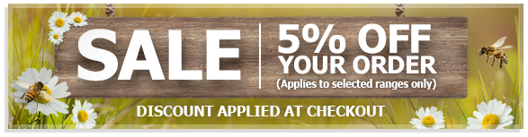 5% off selected products - Discount applied at the checkout