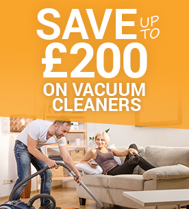 Save £200 on vacuum cleaners