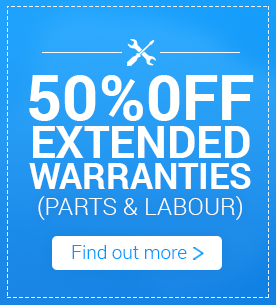 50% off Extended Warranties