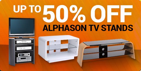 50 Percent off Alphason stands