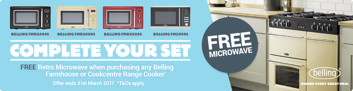 Free Belling Microwaves with every Farmhouse or Cookcentre Range Cooker
