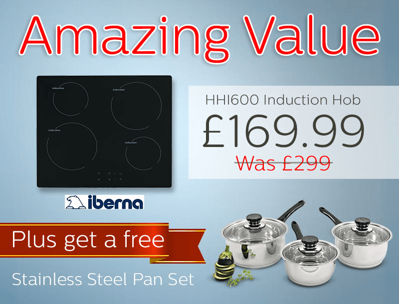 Amazing value induction hob with pan set