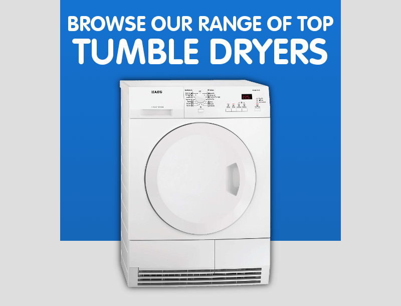 Browse our range of top tumble dryers