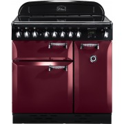 Rangemaster ELAS90EICY Elan Cranberry with Chrome Trim 90cm Electric Induction Range Cooker