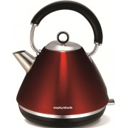 Morphy Richards 102004 Accents Pyramid Red Traditional Kettle