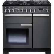Rangemaster Professional Deluxe Slate with Chrome Trim 90cm Dual Fuel Range Cooker