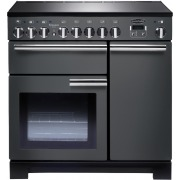 Rangemaster PDL90EISL/C Professional Deluxe Slate with Chrome Trim 90cm Electric Induction Range Cooker