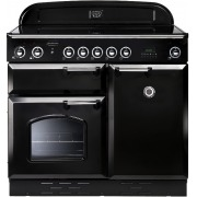 Rangemaster CLAS100EIBL/C Classic Gloss Black with Chrome Trim 100cm Electric Induction Range Cooker