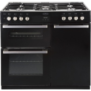 Belling DB490DFT Black 90cm Dual Fuel Range Cooker