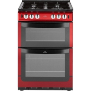 New World NW551GTC Metallic Red Gas Cooker Separate Grill