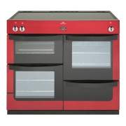 New World Vision 100Ei Red 100cm Electric Induction Range Cooker