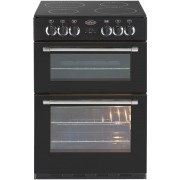 Belling Classic 60E Black Ceramic Electric Cooker with Double Oven