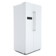 Lec AFF90185 White American Fridge Freezer