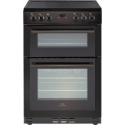 New World 60EDOMC Black Electric Cooker with Double Oven