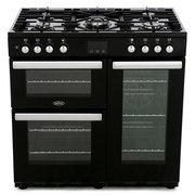Belling Cookcentre 90DFT Black 90cm Dual Fuel Range Cooker