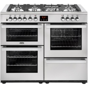 Belling Cookcentre 110DFT PROF Stainless Steel 110cm Dual Fuel Range Cooker