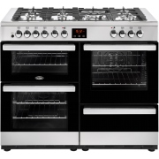 Belling Cookcentre 110DFT Stainless Steel 110cm Dual Fuel Range Cooker