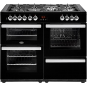 Belling Cookcentre 110DFT Black 110cm Dual Fuel Range Cooker