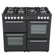 New World NW 100DFT Charcoal 100cm Dual Fuel Range Cooker
