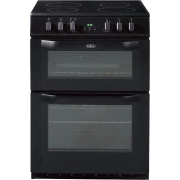 Belling FSE60DOP Black Ceramic Electric Cooker with Double Oven