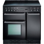Rangemaster TOLS90ECGB Toledo Gloss Black with Chrome Trim 90cm Electric Ceramic Range Cooker