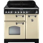 Rangemaster CDL90ECCR/C Classic Deluxe Cream with Chrome Trim 90cm Electric Ceramic Range Cooker