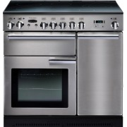 Rangemaster Professional Plus Stainless Steel with Chrome Trim 90cm Electric Ceramic Range Cooker