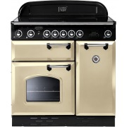 Rangemaster CLAS90EICR/C Classic Cream with Chrome Trim 90cm Electric Induction Range Cooker