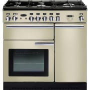 Rangemaster PROP90DFFCR/C Professional Plus Cream with Chrome Trim 90cm Dual Fuel Range Cooker