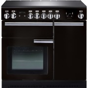 Rangemaster Professional Plus Gloss Black with Chrome Trim 90cm Electric Ceramic Range Cooker