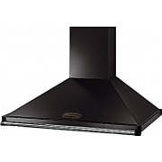 Rangemaster Classic Black with Chrome Trim 100cm Chimney Hood