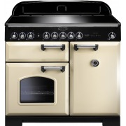 Rangemaster Classic Deluxe Cream with Chrome Trim 100cm Electric Induction Range Cooker