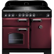 Rangemaster CDL100EICY/C Classic Deluxe Cranberry with Chrome Trim 100cm Electric Induction Range Cooker