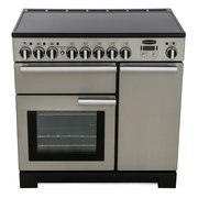 Rangemaster Professional Deluxe Stainless Steel with Chrome Trim 90cm Electric Induction Range Cooker