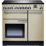 Rangemaster Professional Deluxe Cream with Chrome Trim 90cm Electric Induction Range Cooker