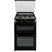 Beko BDVG693K Gas Cooker with Double Oven