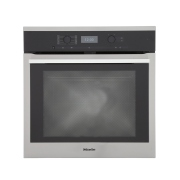 Miele ContourLine H6360BP CleanSteel Single Built In Electric Oven