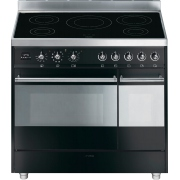 Smeg Symphony SY92IPBL8 90cm Electric Induction Range Cooker