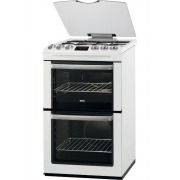 Zanussi ZCG552GWC Gas Cooker with Double Oven