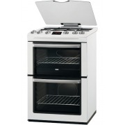 Zanussi ZCG664GWC Gas Cooker with Double Oven